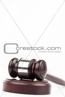 Hammer and gavel for court