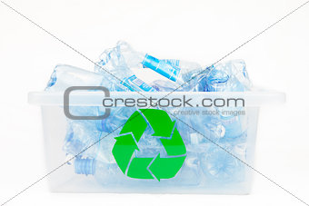 Box for recycling bottles
