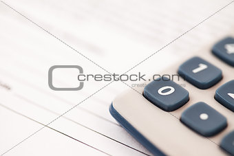 Calculator close-up