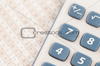 Calculator on maths tables