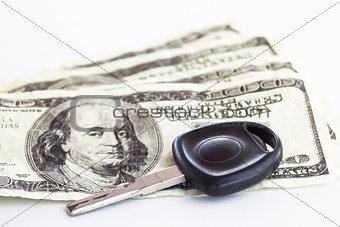 Money and car key