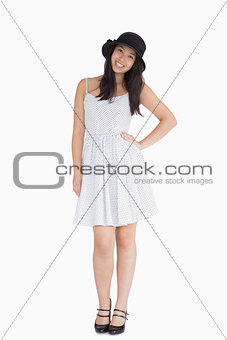 Woman in summer dress