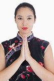 Woman wearing a kimono