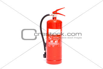 Red foam extinguisher