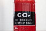 Carbon dioxide fire extinguisher close up