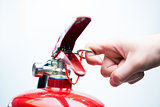 Pulling pin of fire extinguisher