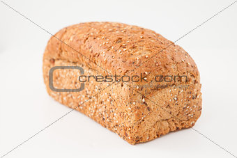 Brown loaf of bread