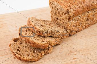 Slices of brown loaf