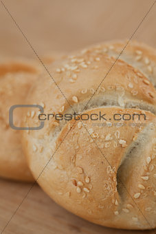 Close up kaiser roll