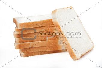 White sliced pan