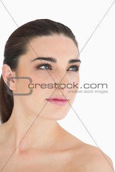 Glamorous woman looking away