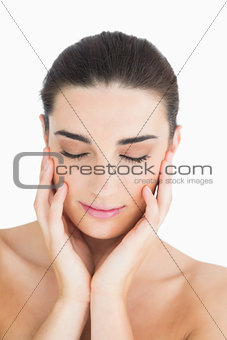Woman having her eyes closed