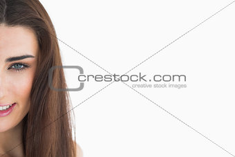 Close up of woman with long hair