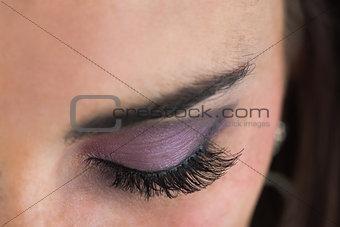 Close up of smoky eyes