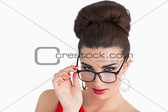 Glamorous woman wearing glasses