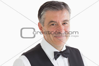 Smiling and Well-dressed waiter