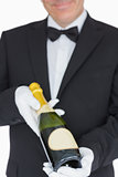 Waiter offering champagne