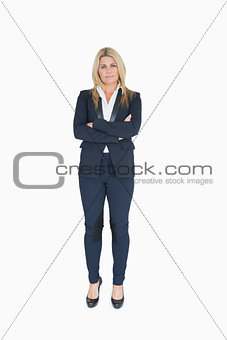 Business woman crossing her arms