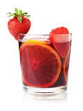 Refreshing fruit sangria