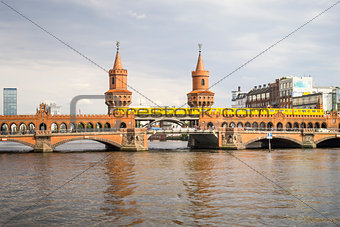 Red Bridge in Berlin Germany