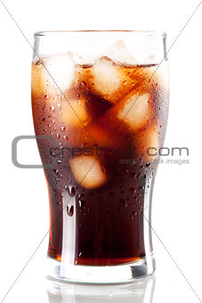 Fresh Cold Cola with ice
