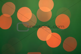 Abstract bokeh on dark green