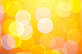 Abstract sunny bokeh on yellow