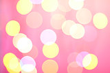 Abstract sunny bokeh on pink