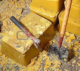 Blocks of Honey Bee's Wax