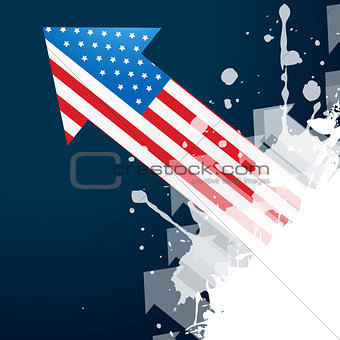 american flag arrow