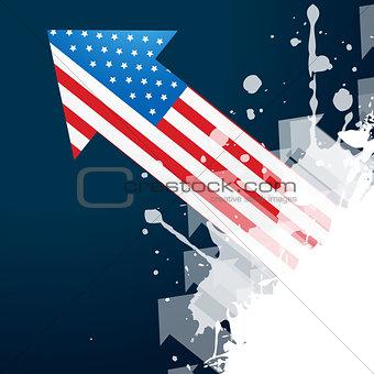 american flag arrow