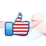 american flag social media