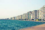 Main view on Thessaloniki City embankment, Greece
