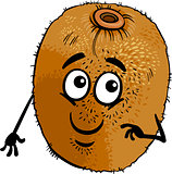 funny kiwi fruit cartoon illustration