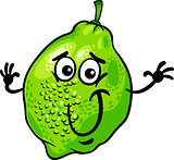 funny lime fruit cartoon illustration