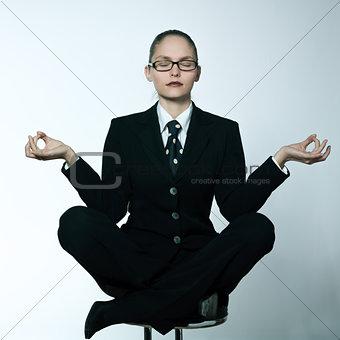 serene business woman