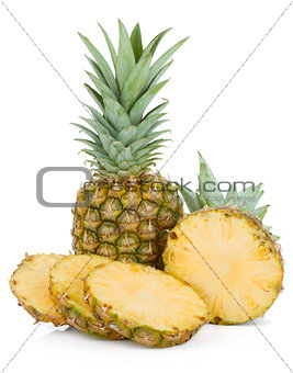 Sliced pineapple
