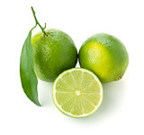 Three ripe limes