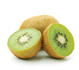 Whole and halves kiwi