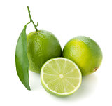 Two and half ripe limes