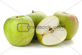 Three and half ripe apples