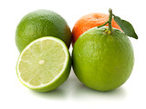 Limes and tangerine