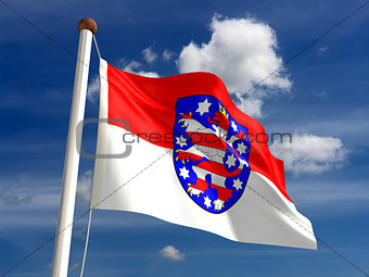 Thuringia flag Germany