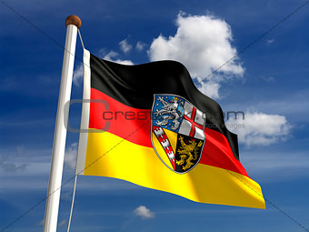 Saarland flag Germany