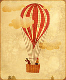 Vintage hot air balloon