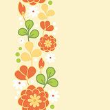 Vector orange kimono vertical seamless pattern background ornament