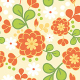 Vector orange kimono seamless pattern background