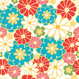 Vector camomiles seamless pattern background