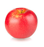A ripe red apple