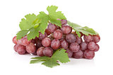 Fresh ripe red grapes